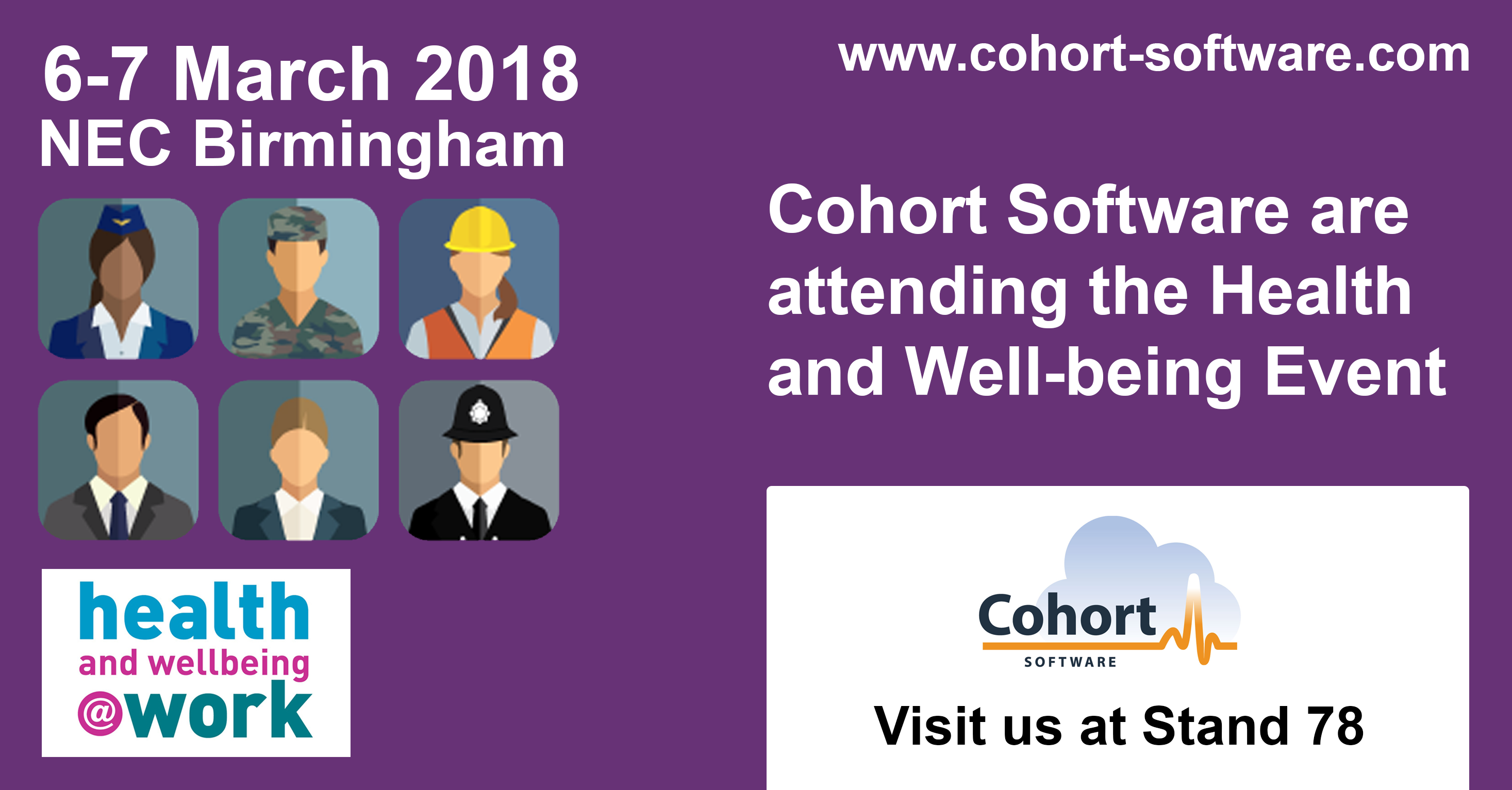 Cohort Software at Health and Well-being Conference 2018