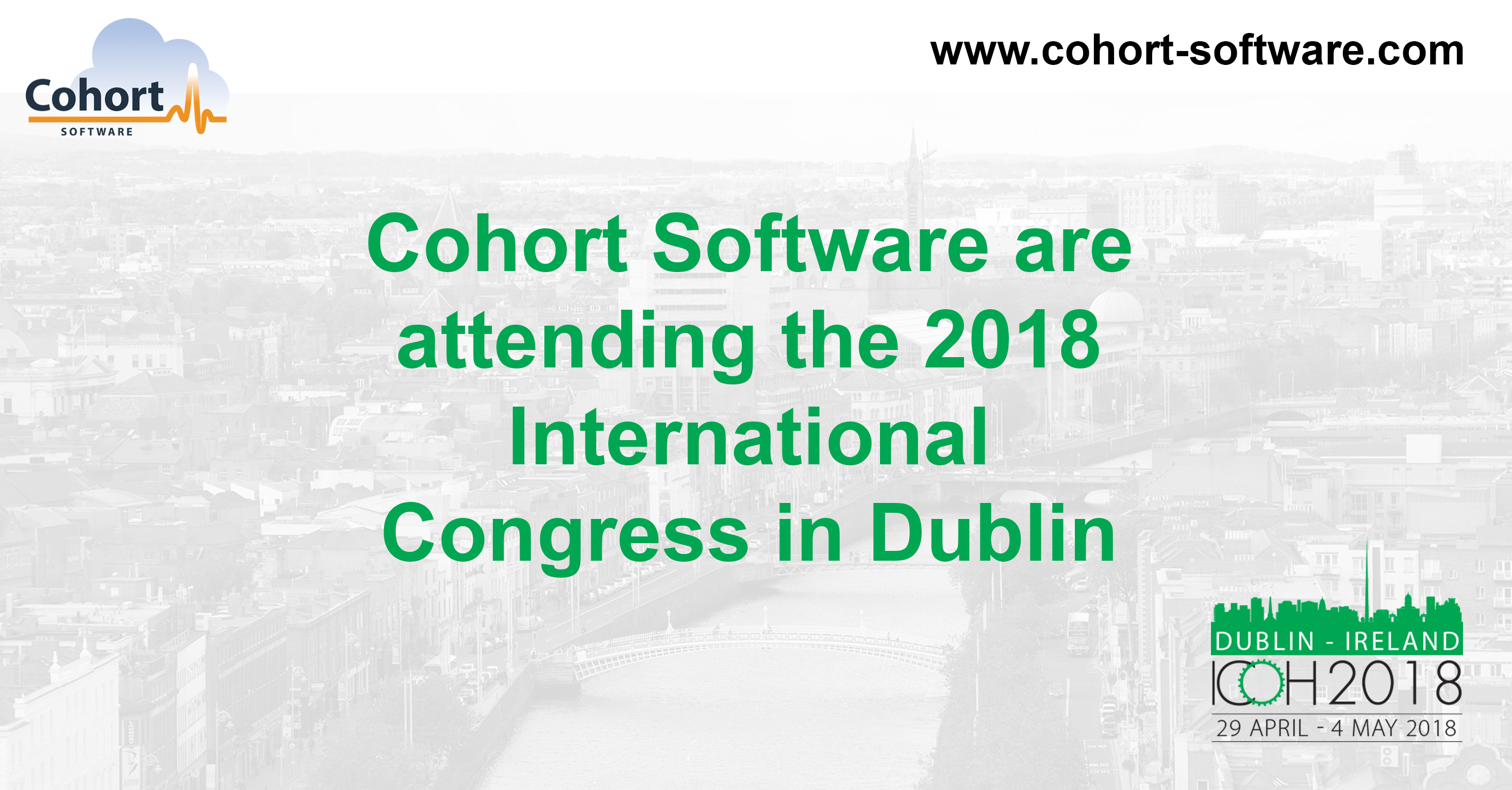 Cohort Software to attend the ICOH International Congress in Dublin